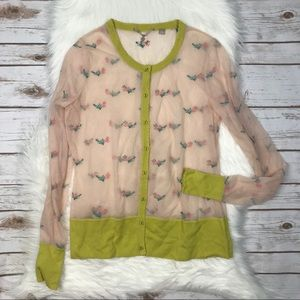 Anthropologie Up and Away Sheer Cardigan Y0368